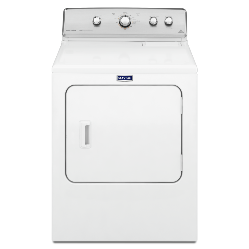 White Centennial Dryer With 10 Year Limited Parts Warranty 7 0 Cu Ft Ymedc555dw Maytag